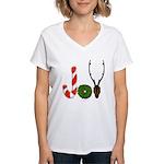 Christmas JOY Women's V-Neck T-Shirt