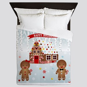 Gingerbread House Party Queen Duvet