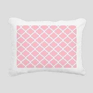 Pink White Quatrefoil Pa Rectangular Canvas Pillow
