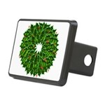Christmas Holly Wreath Rectangular Hitch Cover