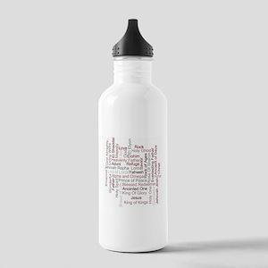 Names of God Word Art Water Bottle