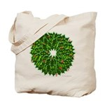 Christmas Holly Wreath Tote Bag
