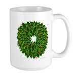 Christmas Holly Wreath Large Mug