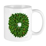 Christmas Holly Wreath Mug