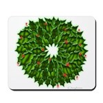 Christmas Holly Wreath Mousepad