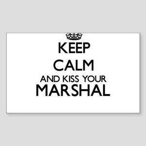 Keep calm and kiss your Marshal Sticker