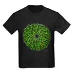 Christmas Holly Wreath Kids Dark T-Shirt
