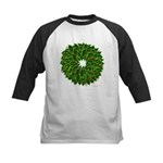 Christmas Holly Wreath Kids Baseball Jersey