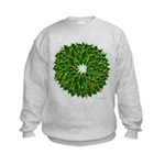 Christmas Holly Wreath Kids Sweatshirt