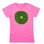 Christmas Holly Wreath Girl's Tee