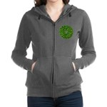 Christmas Holly Wreath Women's Zip Hoodie