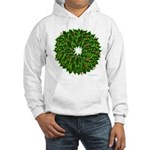 Christmas Holly Wreath Hooded Sweatshirt