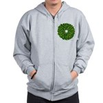 Christmas Holly Wreath Zip Hoodie