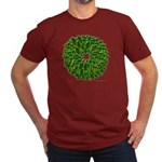 Christmas Holly Wreath Men's Fitted T-Shirt (dark)