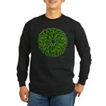 Christmas Holly Wreath Long Sleeve Dark T-Shirt