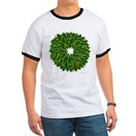 Christmas Holly Wreath Ringer T