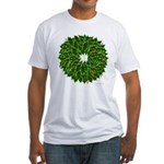 Christmas Holly Wreath Fitted T-Shirt