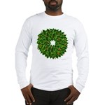 Christmas Holly Wreath Long Sleeve T-Shirt