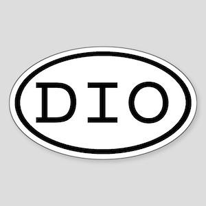 DIO Oval Oval Sticker