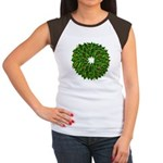 Christmas Holly Wreath Women's Cap Sleeve T-Shirt