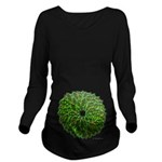 Christmas Holly Wrea Long Sleeve Maternity T-Shirt