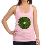 Christmas Holly Wreath Racerback Tank Top