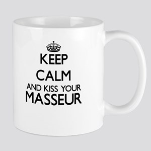 Keep calm and kiss your Masseur Mugs