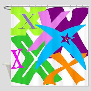 Initial Design (X) Shower Curtain