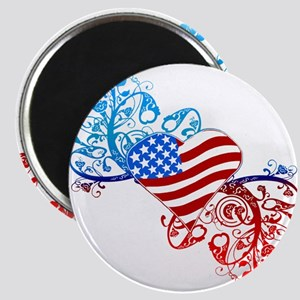 Independence Day Heart Scroll Magnet