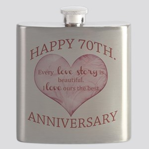70th. Anniversary Flask