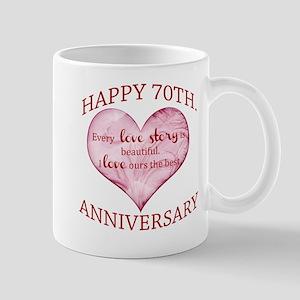 70th. Anniversary Mug