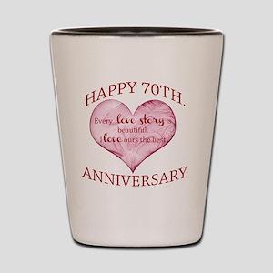 70th. Anniversary Shot Glass