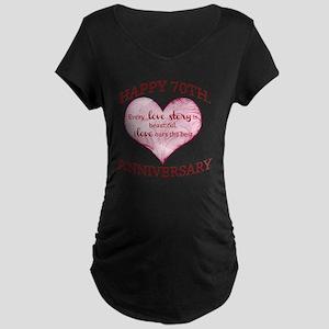 70th. Anniversary Maternity Dark T-Shirt