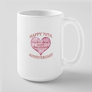 70th. Anniversary Large Mug