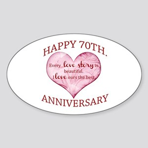 70th. Anniversary Sticker