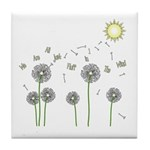 We Are All Just Fluff In The Wind Tile Coaster