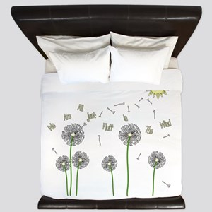 We Are All Just Fluff In The Wind King Duvet