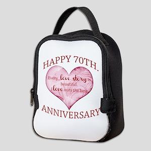 70th. Anniversary Neoprene Lunch Bag