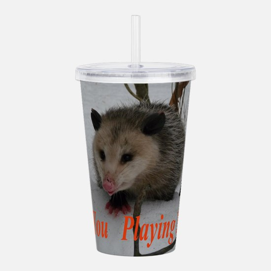 March Madness Possum Acrylic Double-wall Tumbler
