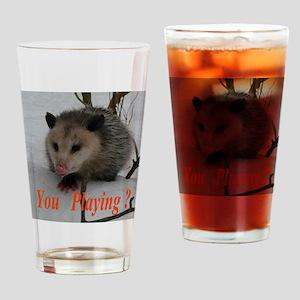March Madness Possum Drinking Glass