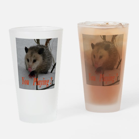 March Madness Possum Drinking Glass