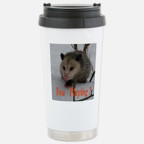 March Madness Possum Travel Mug