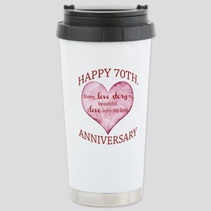 70th. Anniversary Stainless Steel Travel Mug