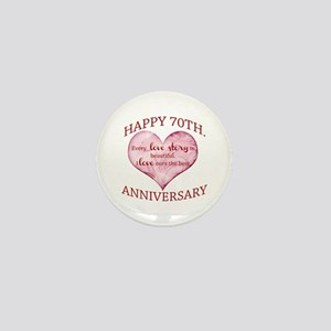 70th. Anniversary Mini Button