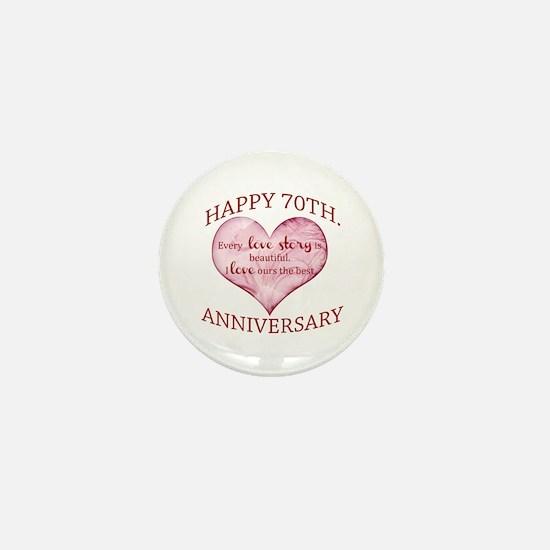 70th. Anniversary Mini Button