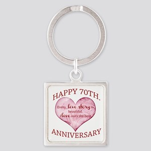 70th. Anniversary Keychains