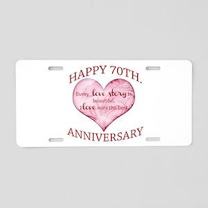 70th. Anniversary Aluminum License Plate