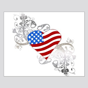 Independence Day Flag Heart Small Poster