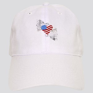 Independence Day Flag Heart Cap