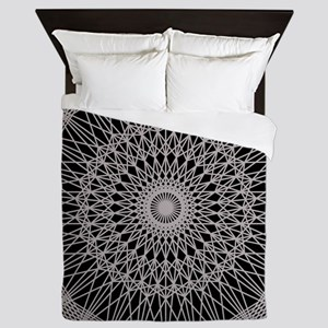 silver Lace Queen Duvet